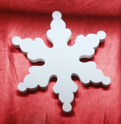Объемные снежинки своими руками из пенопласта